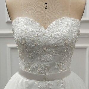Image 5 - Fansmile robe De mariée en dentelle Vintage 2 en 1, robe De mariée luxueuse, tenue De bal, nouvelle collection 2020