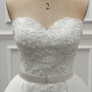 Image 5 - Женское винтажное свадебное платье Fansmile, роскошное кружевное платье 2 в 1, бальное платье принцессы, модель 2020 года, одежда для невесты, платье для свадьбы, 2019