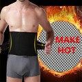 Los hombres de banda de cintura cinturones de adelgazamiento formadores fajas corsé de CINCHER vientre estómago hacer caliente magic burning band negro piel