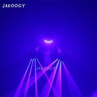 Новый 2019 синий лазерные перчатки высокое качество светящиеся Костюмы аксессуары бар DJ Танцы огни флуоресцентный реквизит для рождественск