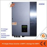 4200 Вт однофазный ЖК дисплей дисплей без положить перегрузки по току и защита от перенапряжения на сетку 2 MPPT бестрансформаторная Солнечный