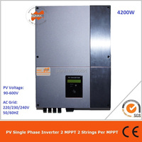 4200W single phase LCD display without put overcurrent and overvoltage protection on grid 2 MPPT transformerless solar inverter