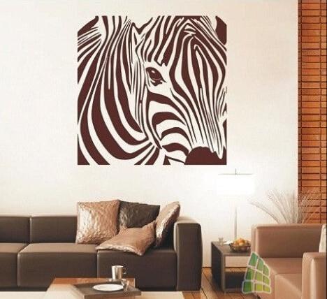 hwhd 2016 new animals stylish zebra wall art sticker zebra wall