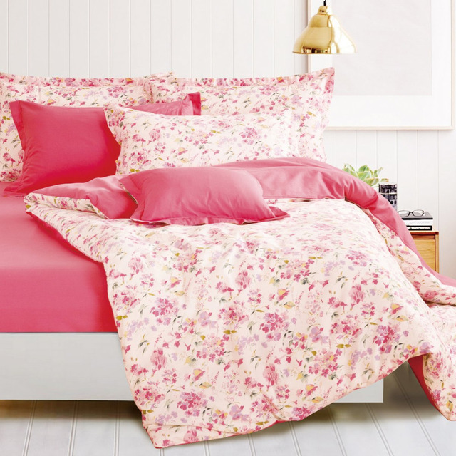 Pink Floral Duvet Cover Pink And White Bedding Paisley Comforter