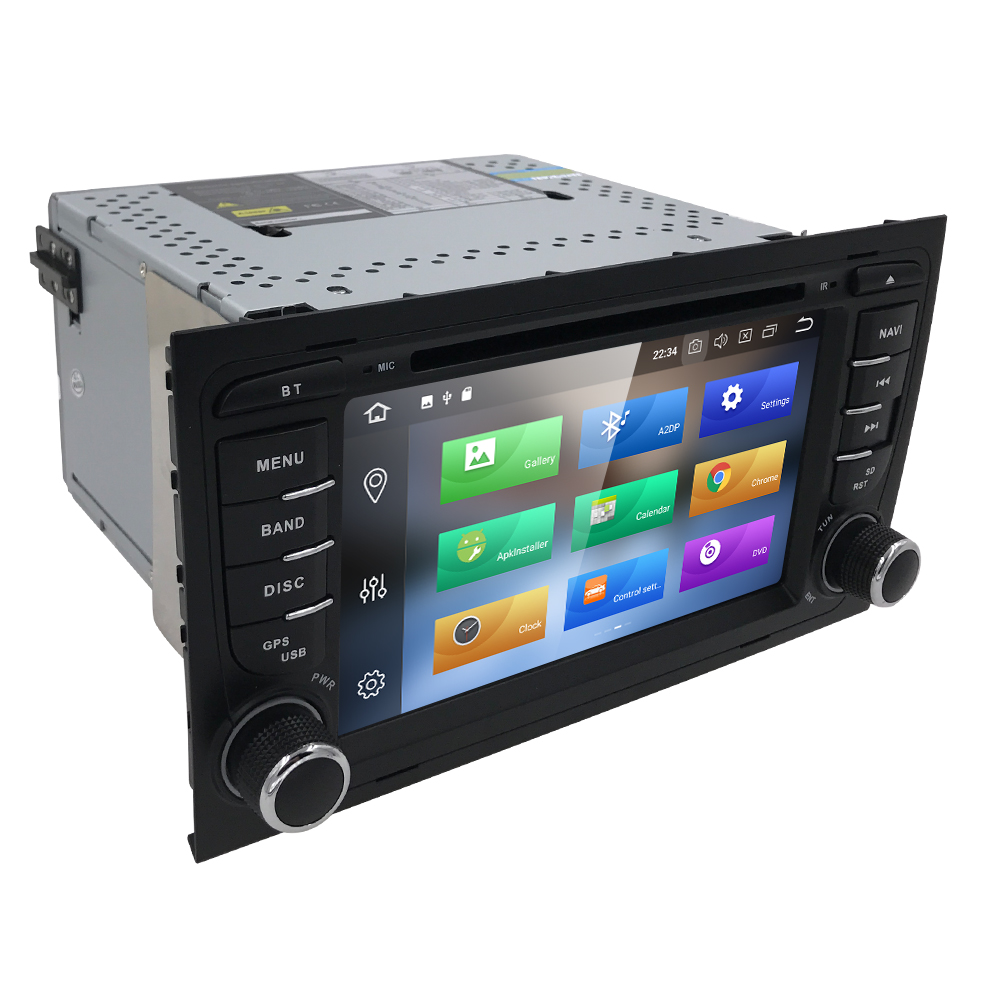 2din Car DVD GSP Navi Android8.0 4+32 for Audi A4 GPS(2002 2008) Audi S4/RS4/8E/8H/B6/B7 With GPS Bluetooth Radio RDS Canbus Map