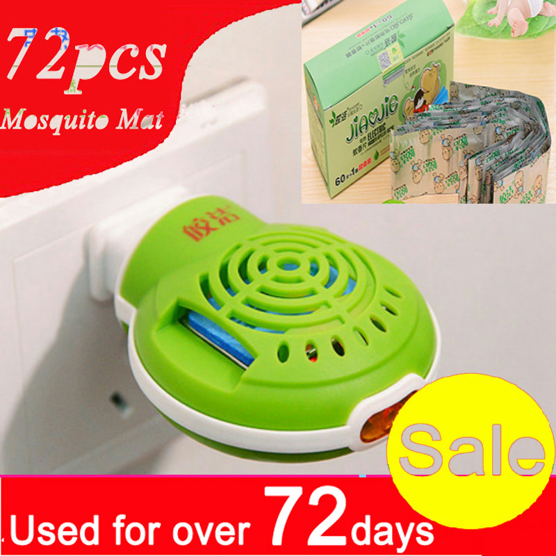 72pcs / lot anti-moustique tapis anti-moustiques électriques et électrique Naphtaline répulsif chauffe-encens anti-moustique tueur été MD102