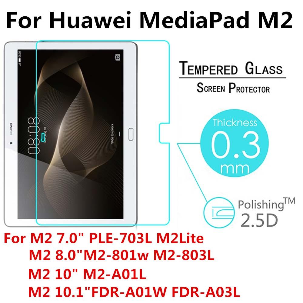 Закаленное Стекло для huawei MediaPad M2 T2 Pro 7,0 8,0 10,0 10,1 PLE-703L M2-801W M2-802W M2-A01L Tablet Экран протектор фильм