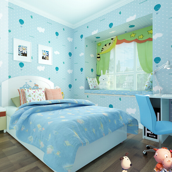 ФОТО Boys and girls Child room real eco-friendly non-woven wallpaper strawberry balloon pattern  Wallpaper decoration N12