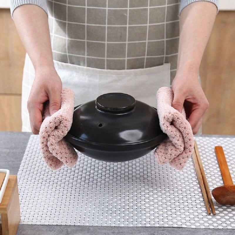 2 шт./партия, ткань из микрофибры для мытья посуды, кастрюля, ткань для очистки, многоразовая мойка, впитывающая ткань, домашнее полотенце для кухни