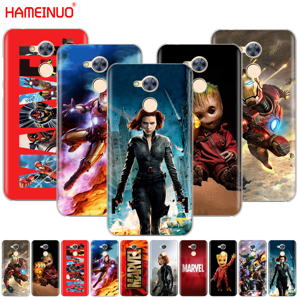 HAMEINUO <font><b>Marvel</b></font> superheroes Cover <font><b>phone</b></font> <font><b>Case</b></font> for Huawei <font><b>Honor</b></font> 10 V10 4A 5A 6A 7A 6C 6X 7X 8 <font><b>9</b></font> <font><b>LITE</b></font> image