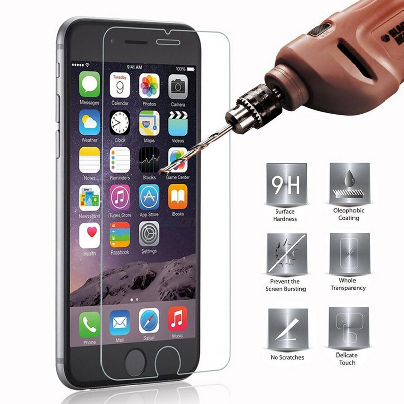 100pcs DHL 9H Tempered Glass for iPhone 7 8 Plus Screen Protector Film for iPhone X
