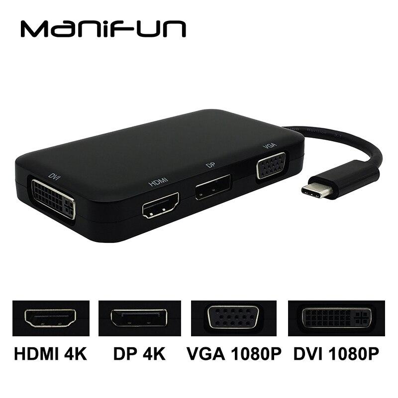 Usb C Type C To Hdmi Vga Dvi Dp Displayport Adapter Usb 3