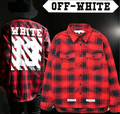 2017 New hip hop fashion pyrex off white 13 virgil abloh long sleeved high quality plaid dress shirt free shipping