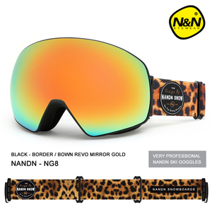 Image 2 - NANDN جديد تزلج نظارات مزدوجة الطبقات UV400 مكافحة الضباب قناع للتزلج الكبير نظارات التزلج الرجال النساء الثلوج على الجليد نظارات