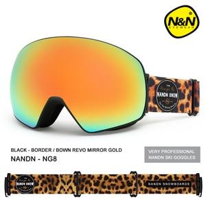 Image 2 - Nandn novo óculos de esqui camadas duplas uv400 anti nevoeiro grande máscara de esqui óculos de snowboard de neve