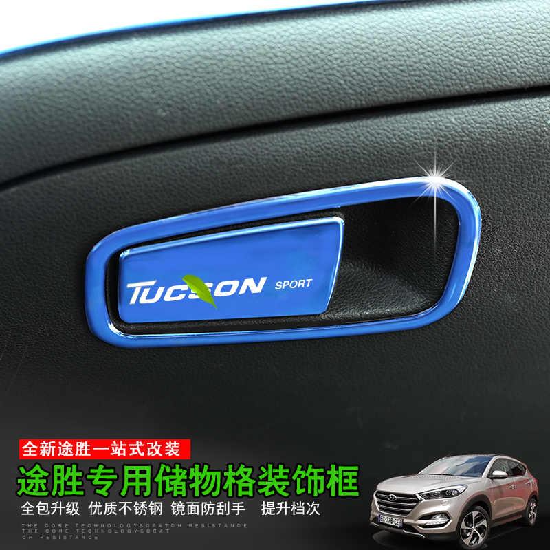 Para Hyundai Tucson 2015-2018 caja del guante de la puerta del coche cubierta giratoria accesorios del coche decoración de accesorios de coche