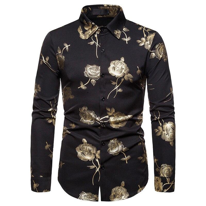 Men's Floral Printed Slim Fit Shirt
