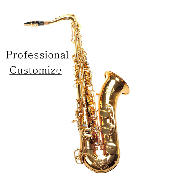 Cheap VECKY T-300 Tenor Saxophone Bb gold engraved Electrophoresis Gold Brass design from SELMER tenor 54 Professional level 802