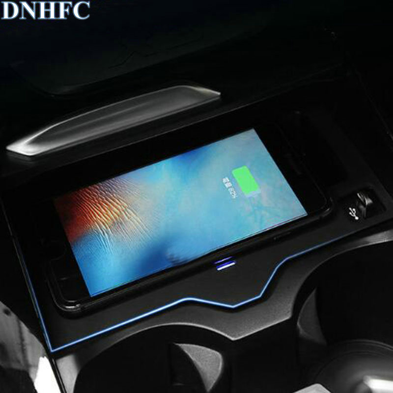 DNHFC Mobile phone wireless charging Pad Module Car Accessories For BMW X3 G01 2018 20i 30i 20d 30d Automobile decoration