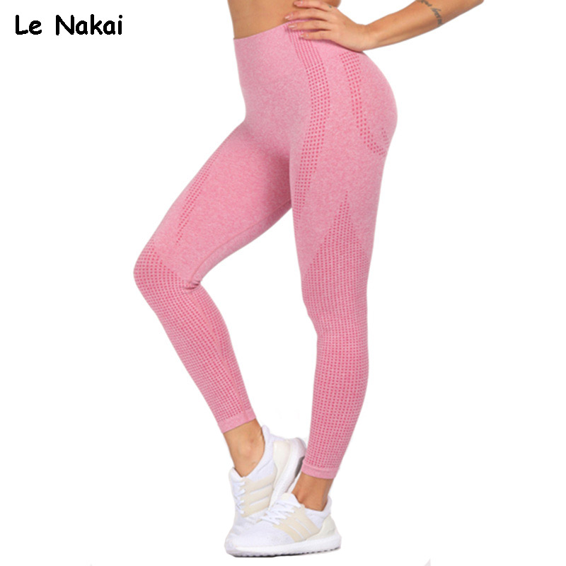 Pink Vital Seamless Yoga Leggings for Women Gym Leggings Sport Fitness Pants High Waist Butt Scrunch Leggings Energy Flex Pants