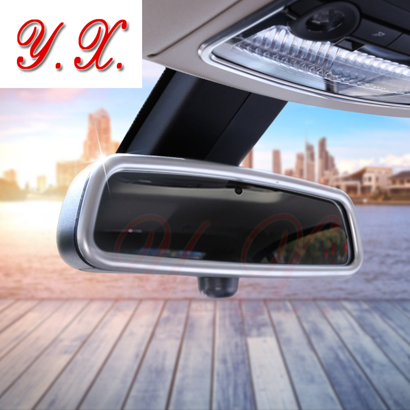 High quality Chrome ABS For BMW sticker Interior Mirrors cover decorative For BMW F10 F25 F30 F15 F01 X1 X3 X4 X5 X6 Car Styling
