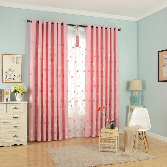 Modern Garden Embroidery Curtain Screens Blackout Living Room Bedroom  Curtain Romantic Flowers Curtains Wp188u002630