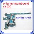 N7100 placa madre original de la versión europea del mainboard de la placa base para samsung galaxy note 2 n7100 placa lógica desbloqueado android