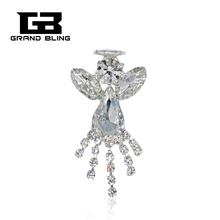 Blingbling Crytal Angel Pin Fashion Costume Brooches Jewelry кольцо opk crytal 193