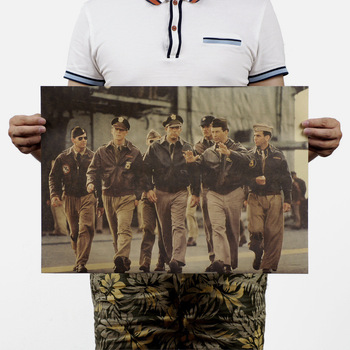 Perlado/película de guerra/pósteres retro Kraft/vintage poster Bar Café pintura decorativa 51x35,5 cm