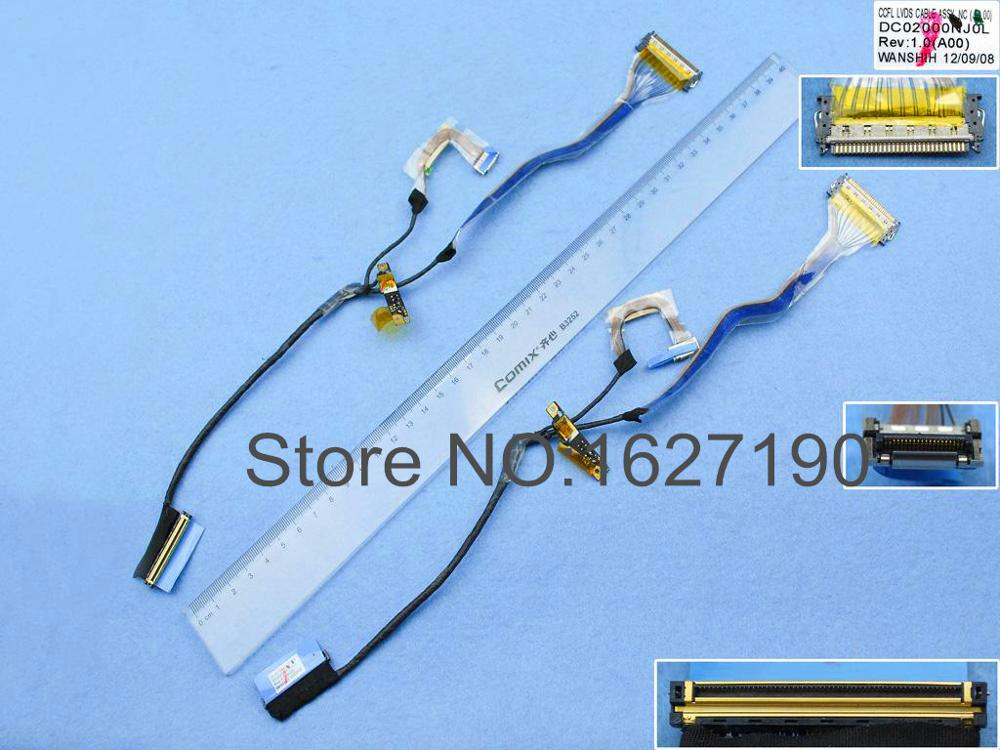 NEW Laptop Cable For DELL Latitude E6400 LED(without camera connector) P/N DC02000NJ0L Notebook Repair LCD LVDS CABLE