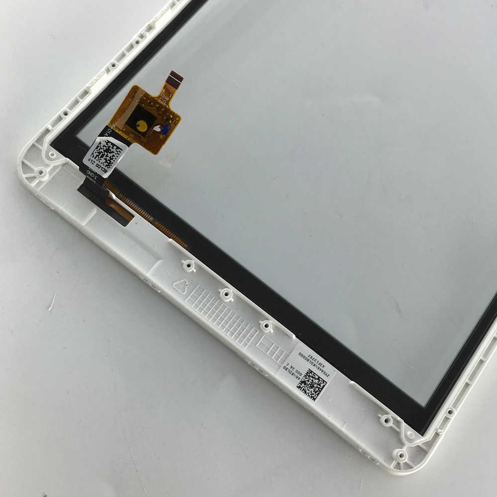 Utilizzato parti di tocco Anteriore Dello Schermo Digitizer Vetro del Pannello con cornice Parti di Ricambio 8 pollice Per Acer Iconia A1-830 A1 830