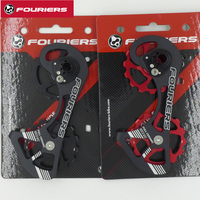 FOURIERS CT DX007 H1515 Full Ceramic Bearing Pulley And Cage Oversize Road Bike Rear Derailleur For SHIMANO 9000/9070/6800/6870