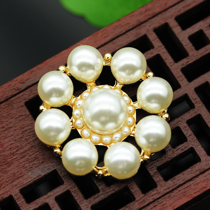 New 10 pieces High grade metal Handmade pearl jacket buttons shirt Sweater button Decorations Accessories 25mm