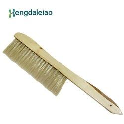 Инструменты для пчеловодства 2 ряда цельная деревянная пчелиная щетка с пластиковым волокном для пчеловодства или пчеловодства № 17