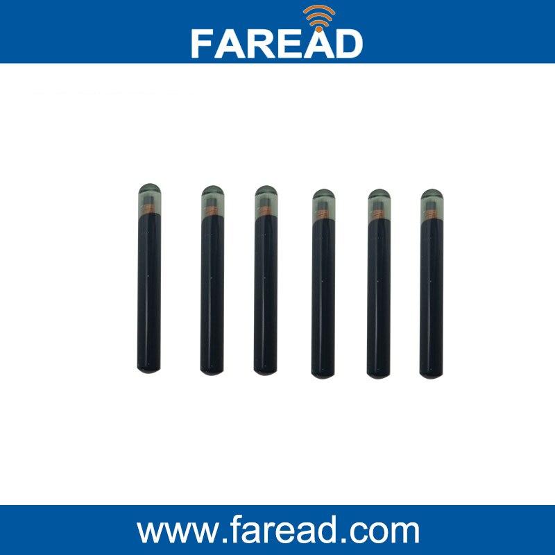 X100pcs 4*34mm  LF Glass Tag  125Khz ISO11784/5 ISO14223 RFID Microtransponder