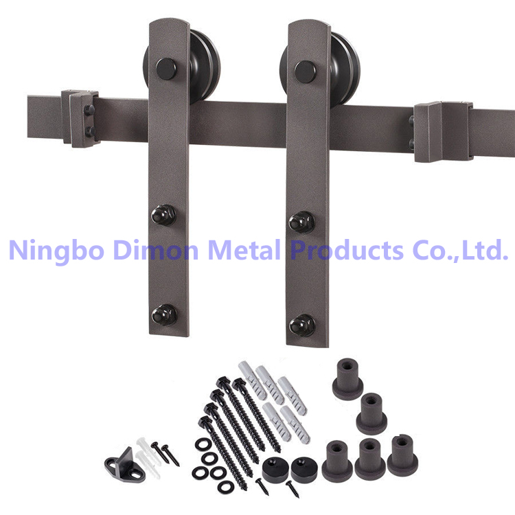 Free Shipping Dimon Hot Sell High Quality Wood Sliding Door Hardware DM-SDU 7207 Without Rail