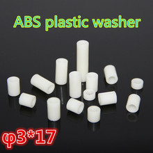 1000 шт. m3* 17 ABS пластик шайбы, прокладки прокладка разделительный куст колонка Подходит Втулка из АБС-пластика труба ABC Круглый противостояние