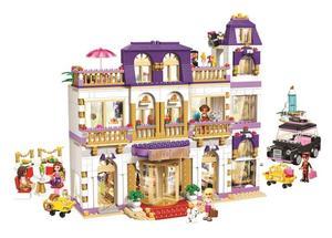 10547 девочки, друзья HeartLake Grand, отель, строительные блоки, дети, сделай сам, развивающие кирпичи, игрушки, подарок для детей