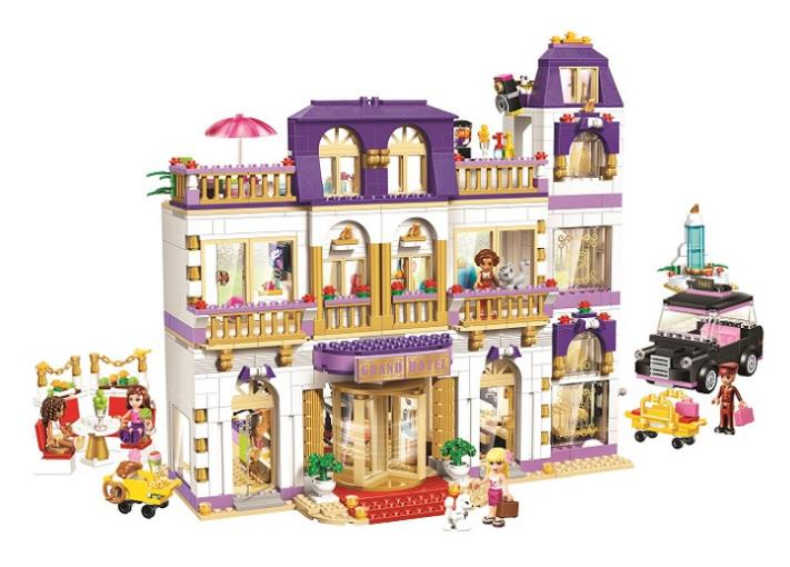 2017 New 10547 Girls Friends HeartLake Grand Hotel Building Blocks kids Model DIY Bricks Toys gift Compatible with Lepin 41101 lepin 01045 1676pcs girls series heartlake grand hotel set children eucational building blocks bricks toys model gift 41101