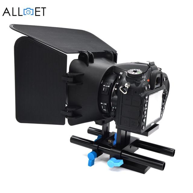 New Professional 15mm Rail Rod Support System Baseplate Mount For DSLR Follow Focus Rig