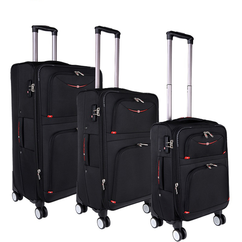 46a8b35a7d3 Swiss Oxford rolling luggage spinner wheel box man suitcase women luggage  business brand large trolley bag