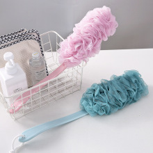 Large Long Handle Bath Sponge Brush For Shower Flower Soft Back Scrubber Body Cleaning Mesh Bathing Ball Accessories