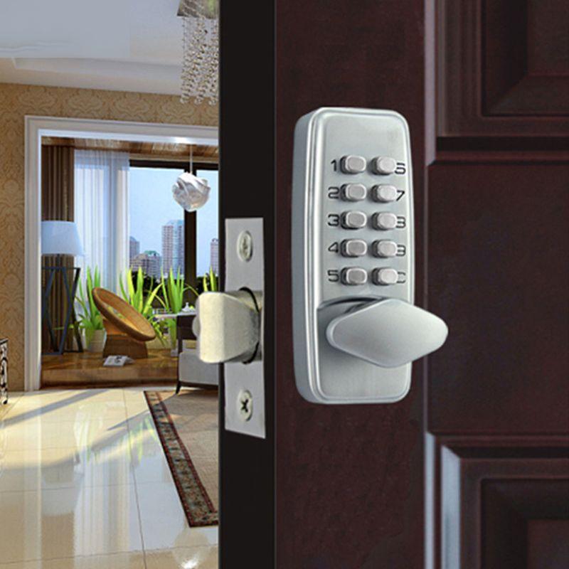 Zinc Alloy Miniature Digital Push Button Mechanical Lock With Combination Code