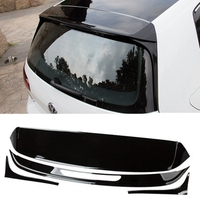MONTFORD For Volkswagen Golf 7 MK7 2014 2015 2016 2017 Car ABS Plastic Black White Color Rear Trunk Roof Wing Spoiler 4Pcs/set
