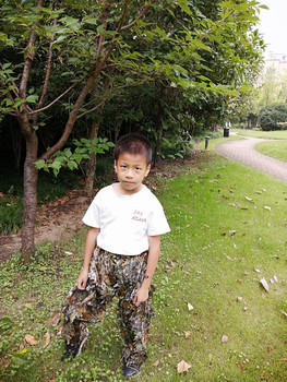 Children's new 3D leaf camouflage suit Geely suit Bird watching suit Shooting camouflage Hunting clothes and pants 4