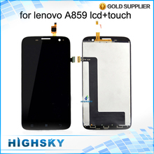 All Tested Display For Lenovo A859 LCD With Touch Screen Digitizer Assembly AAA quality 5 inch 1 Piece Free Shipping