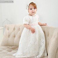 Baby Shower Baptism Dress Lace Newborn Baby 1st 1 Year Birthday Party Wedding Dress Floor Length Christening Gown Baby Dress