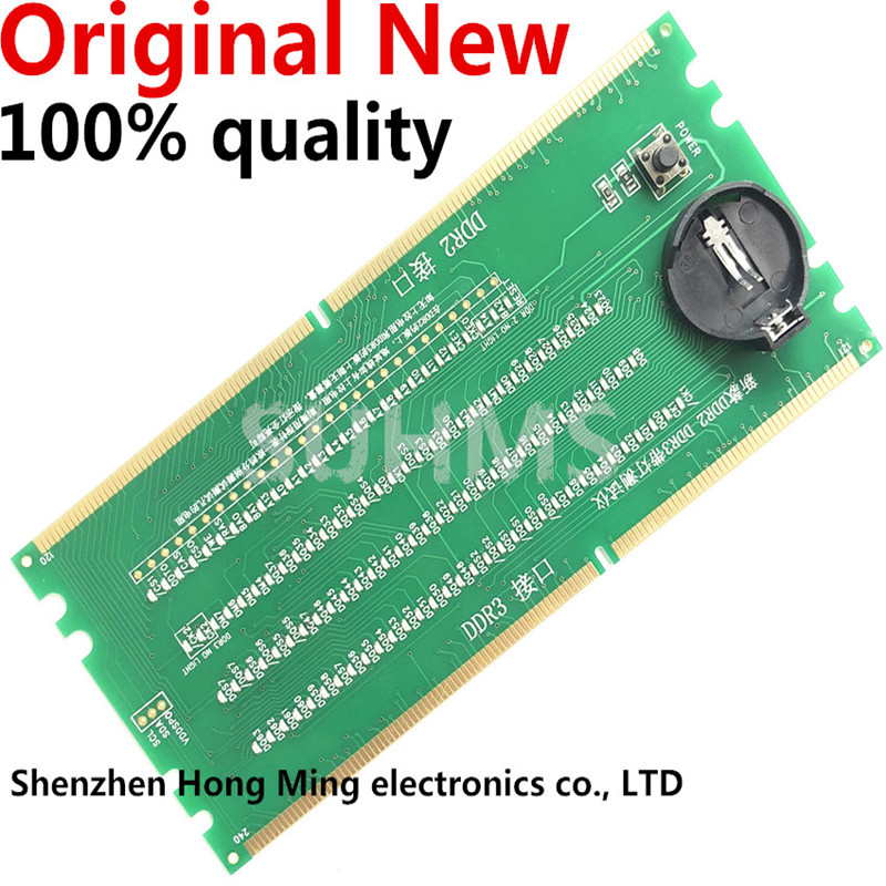100% New Original Desktop DDR2 DDR3 Memory RAM Slot Tester With LED DDR2 DDR3 Slot Tester For Desktop Motherboard