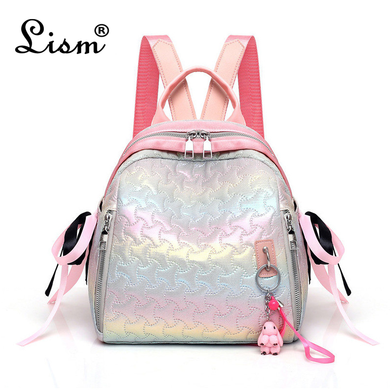 Backpack For Woman Top Quality PU Leather Zipper Backpack For Young Girls Female School Shoulder Bag Bagpack Mochila Feminina