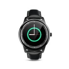 PARAGON Voll Runde Smartwatch M365 Echtem Leder Schlaf Monitor fitness android smart uhr pulsuhr dz09 u8 moto360